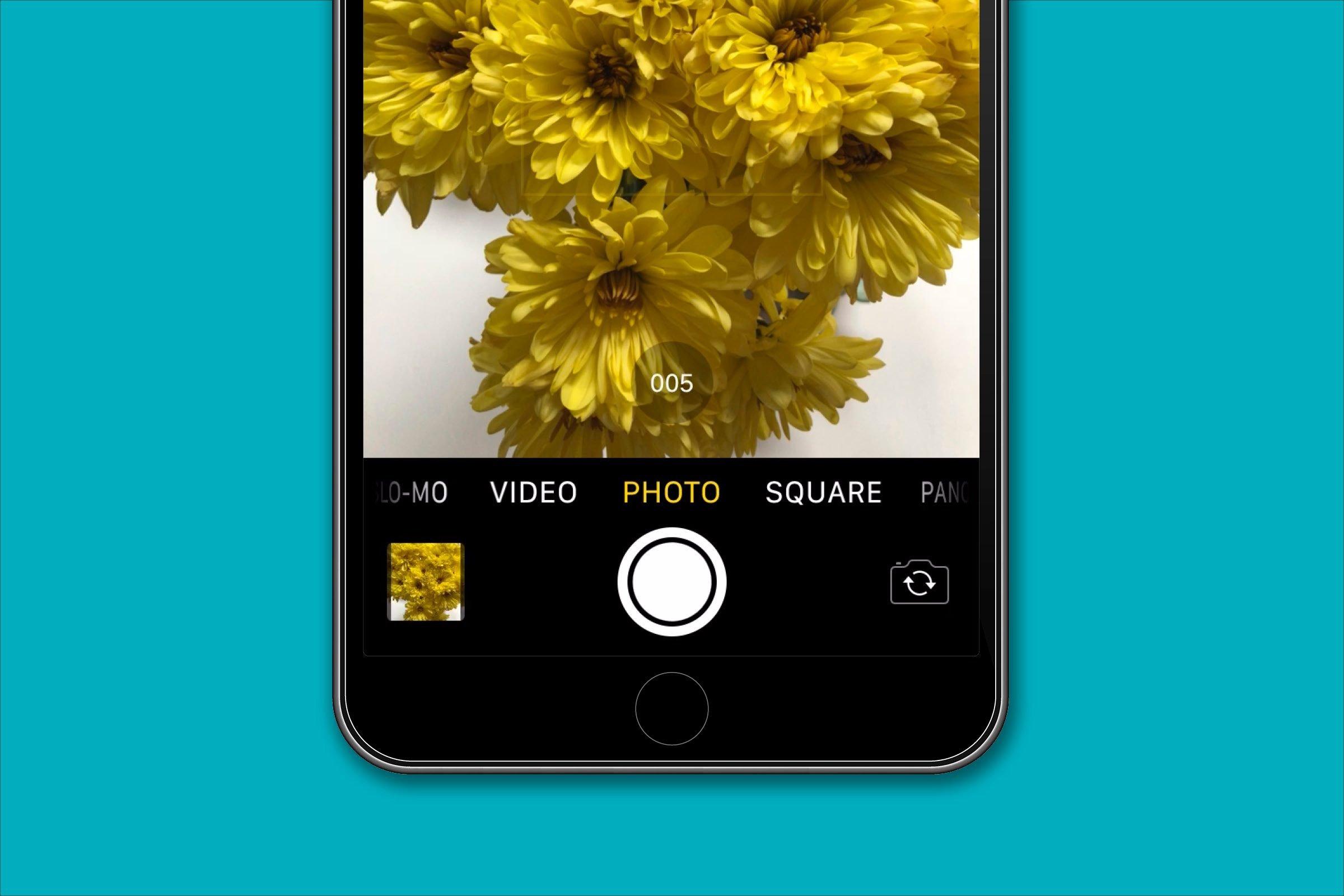 Shoot bursts of photos
