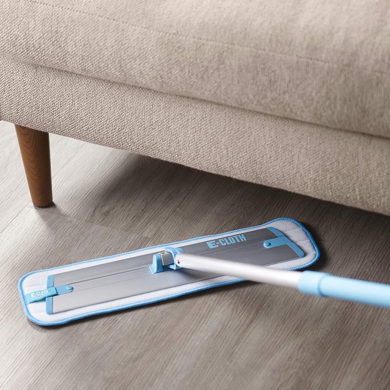 E-Cloth Deep Clean Mop – European Microfiber Damp Mop with Sturdy Telescoping Handle