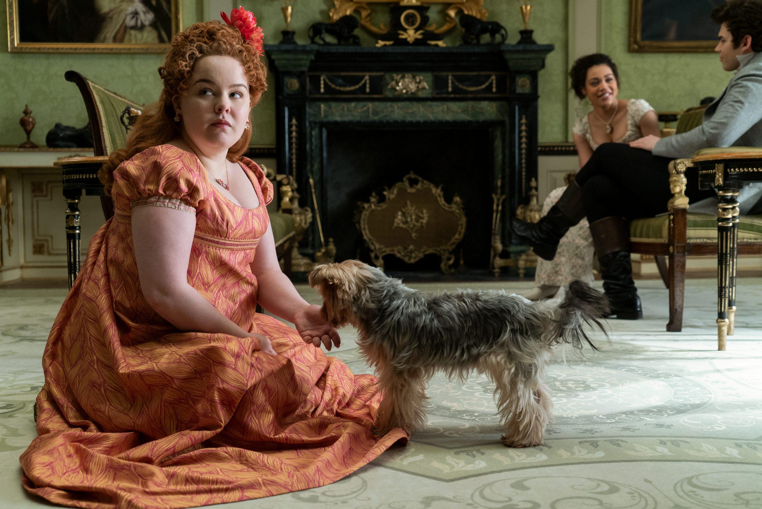 Penelope Featherington, on the Netflix show Bridgerton