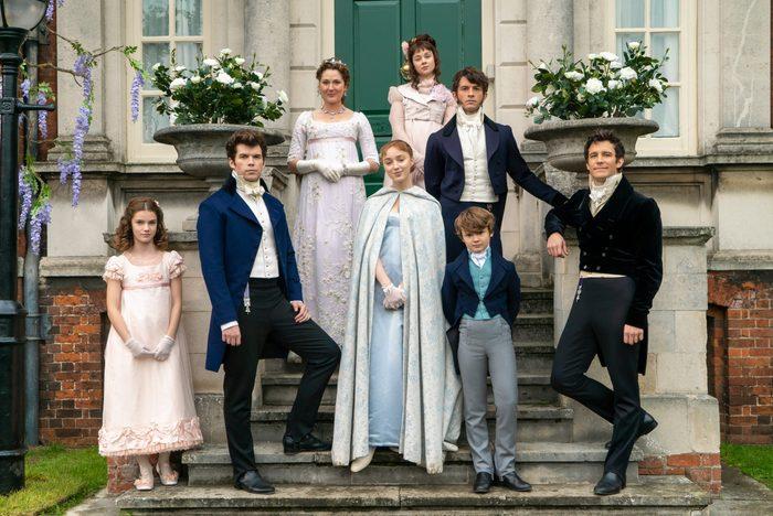 Bridgerton family on the Netflix show Bridgerton