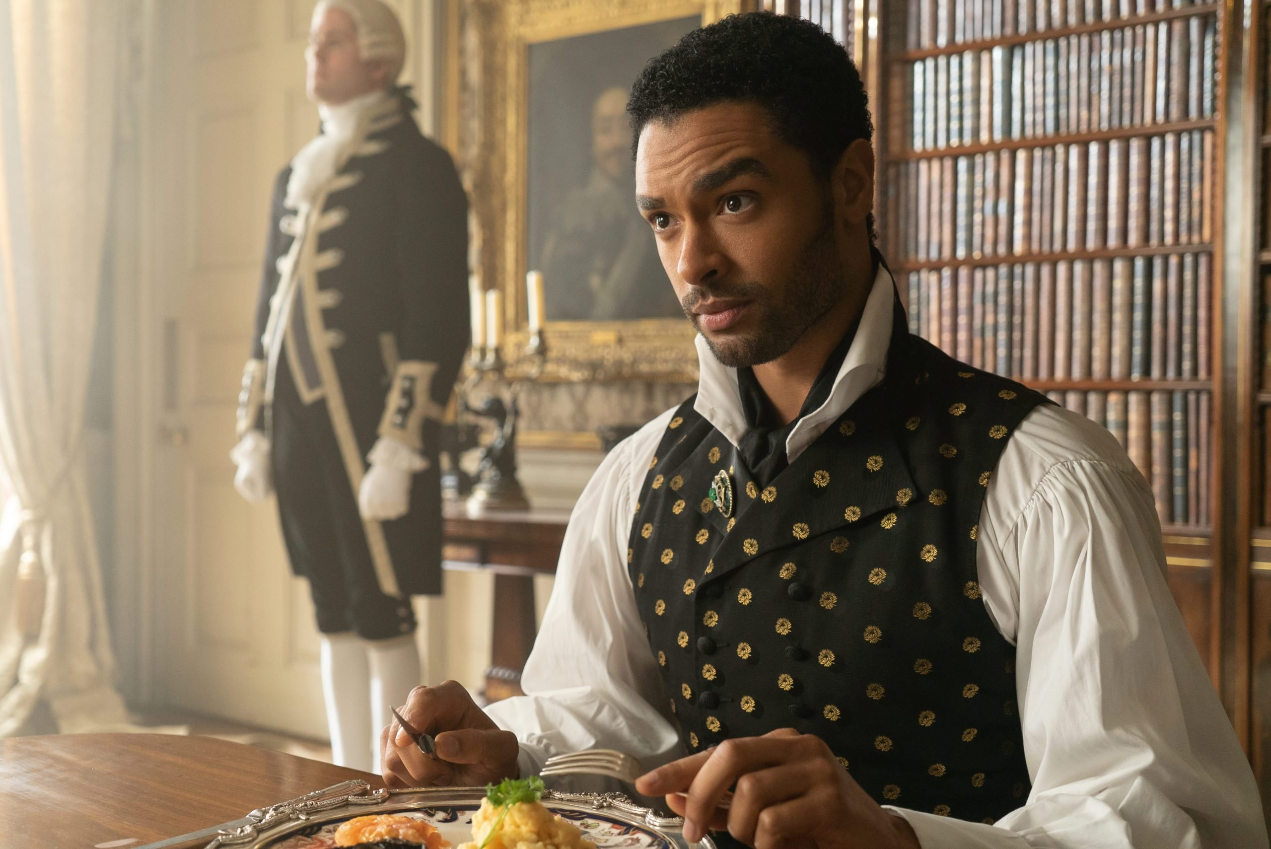 Simon, Duke of Hastings, in the Netflix show Bridgerton