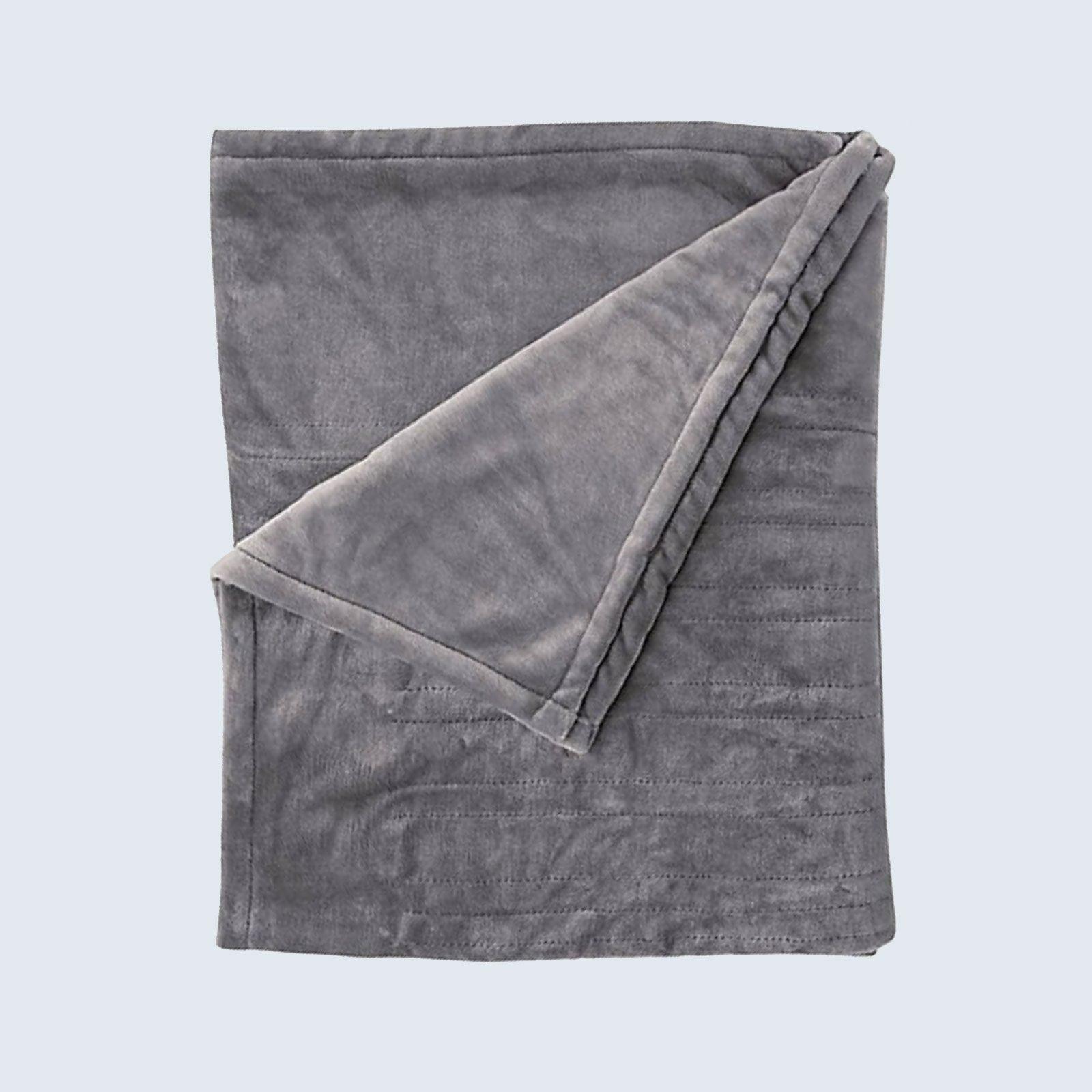 Brookstone n-a-p Heated Plush Throw Blanket