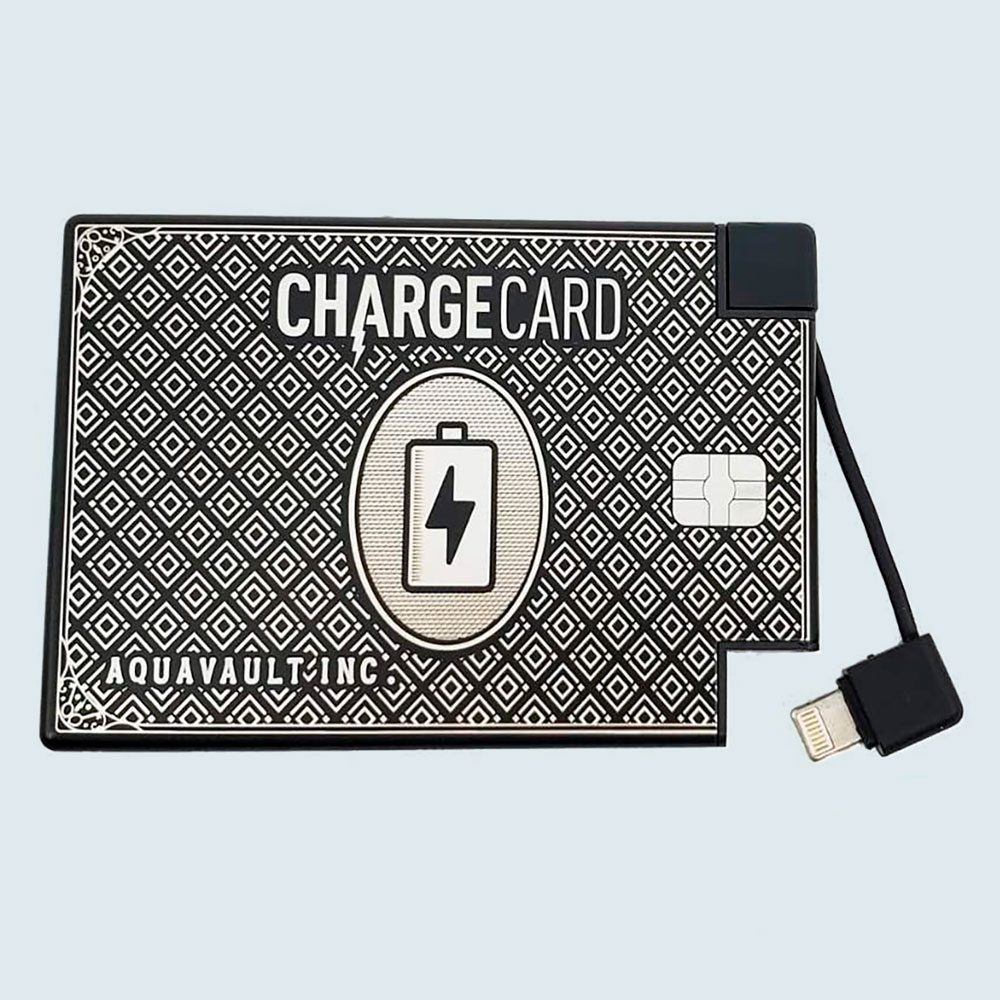 Chargecard Portable Charger By Aquavault Via Amazon