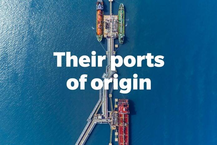Their ports of origin.