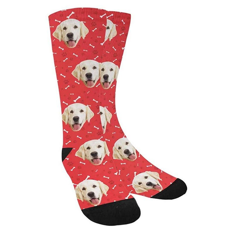 Custom Personalized Photo Pet Face Socks