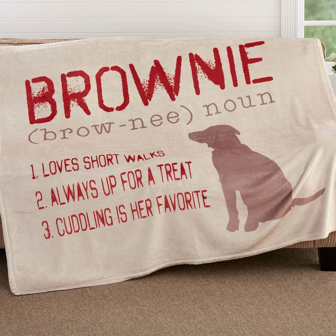 Definition Of My Dog Personalized Blanket