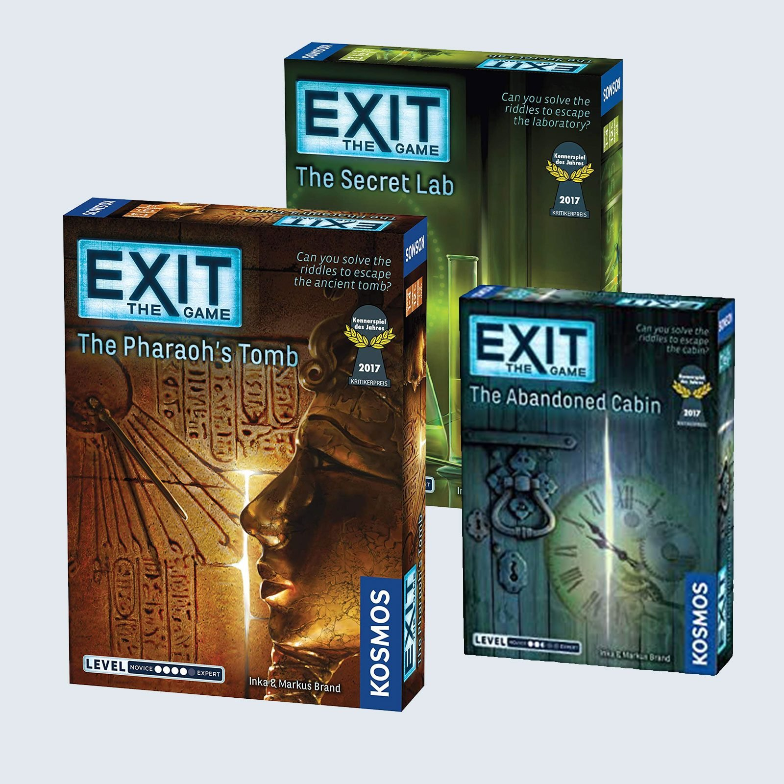 Exit: The Game—The Abandoned Cabin / The Pharaoh's Tomb / The Secret Lab