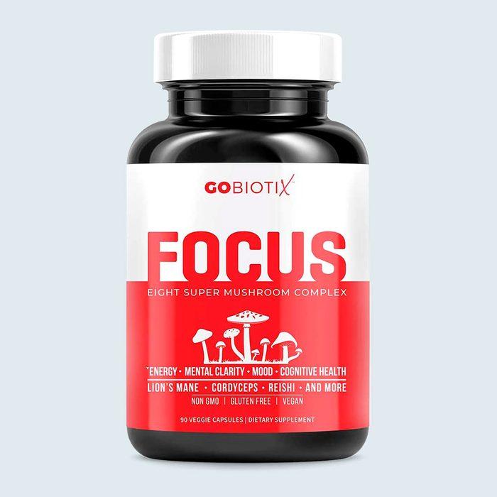 Focus 8 Mushroom Supplement Complex By Gobiotix Via Amazon