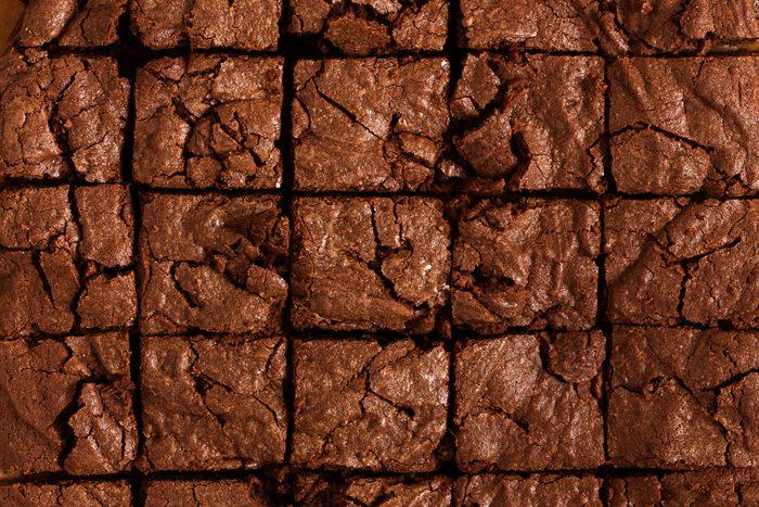 Chocolate brownie cake background