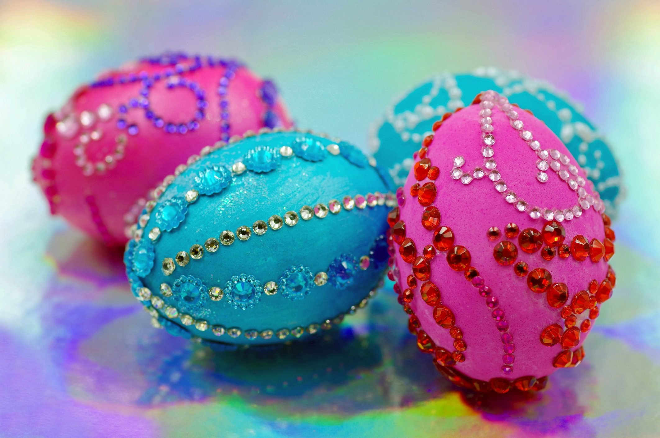 Bejeweled Easter Eggs