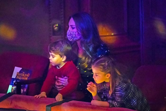 The Duke and Duchess Of Cambridge And Their Family Attend Special Pantomime Performance To Thank Key Workers