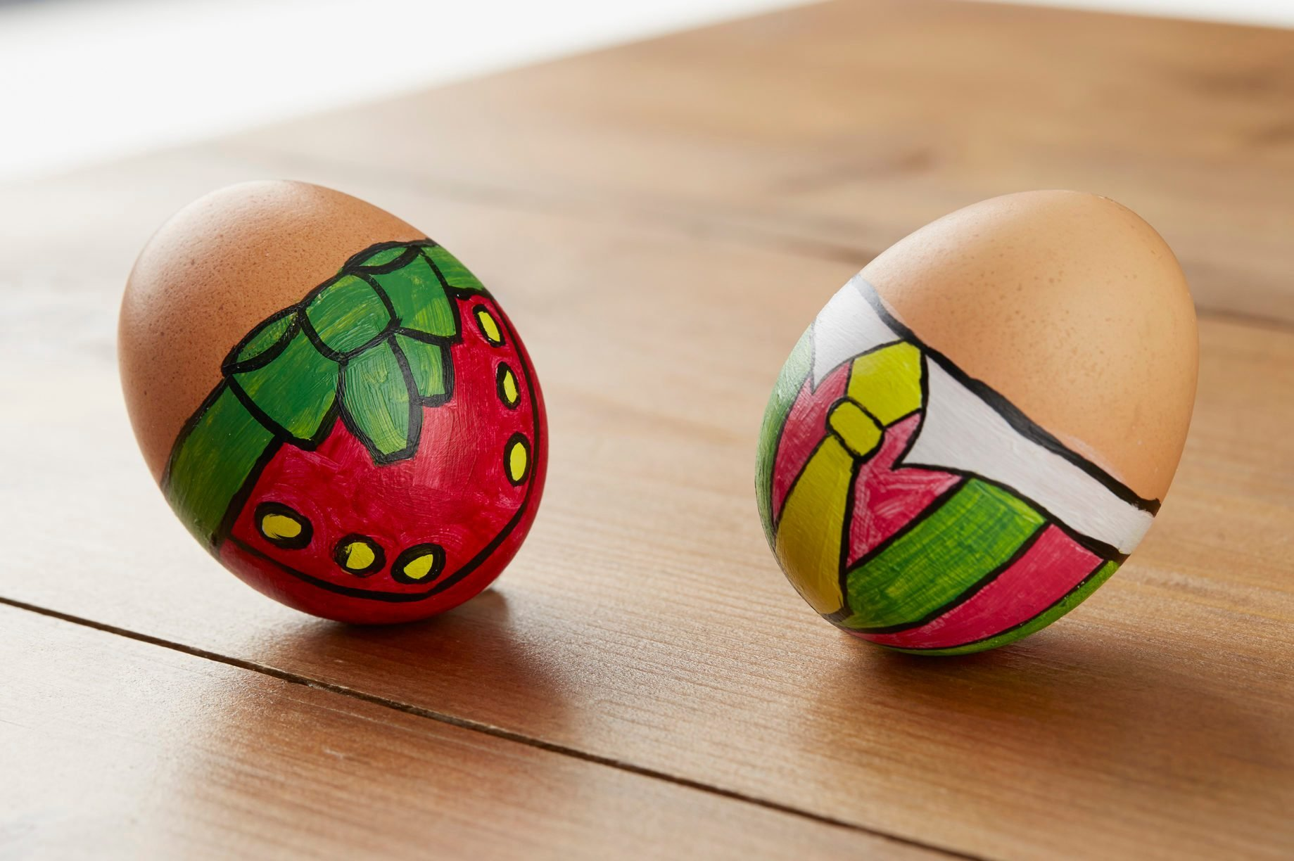 Painted easter egg business suit tie and bow
