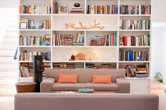 light-filled modernist style living room