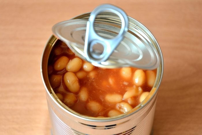 Open Baked Bean Tin