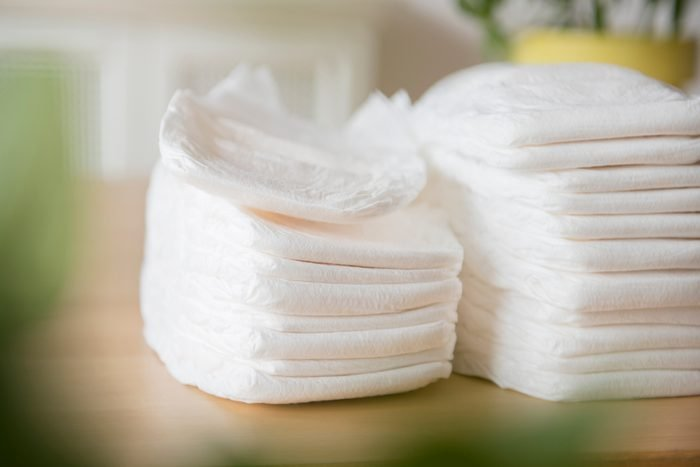 Piles of diapers
