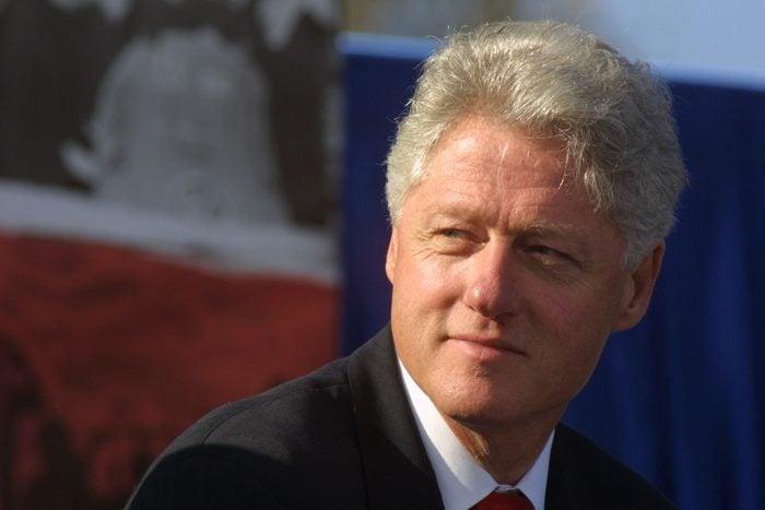 pensive portrait of Bill Clinton