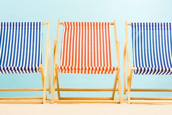 Three deckchairs