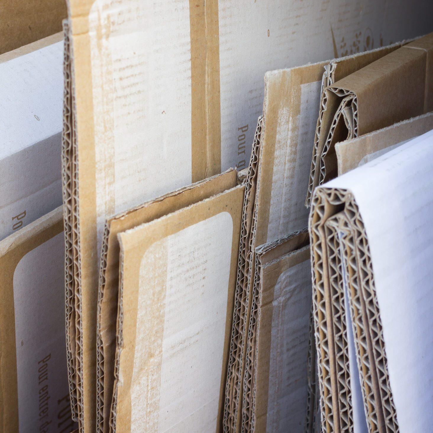 Cardboard box recycling