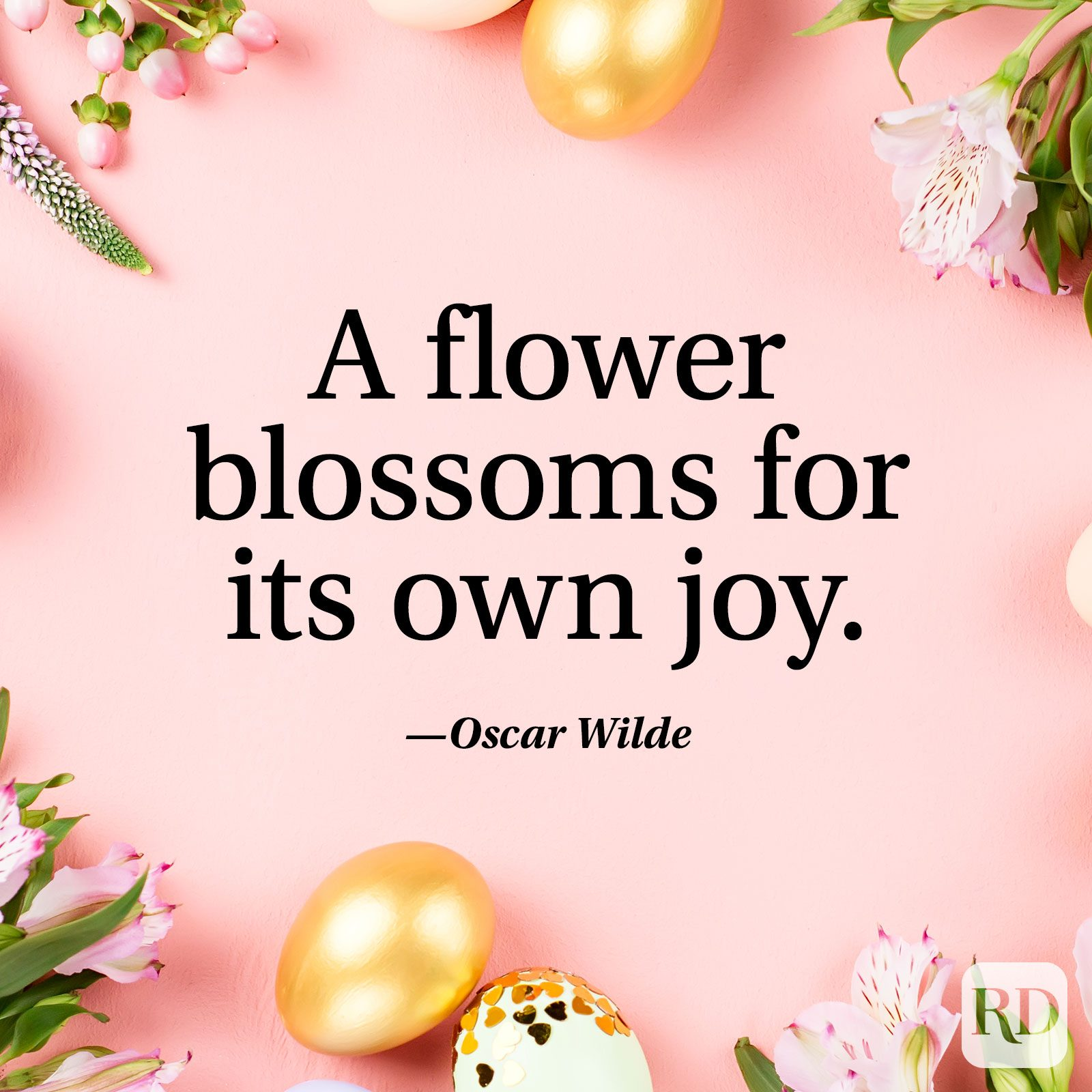 """A flower blossoms for its own joy."" — Oscar Wilde"