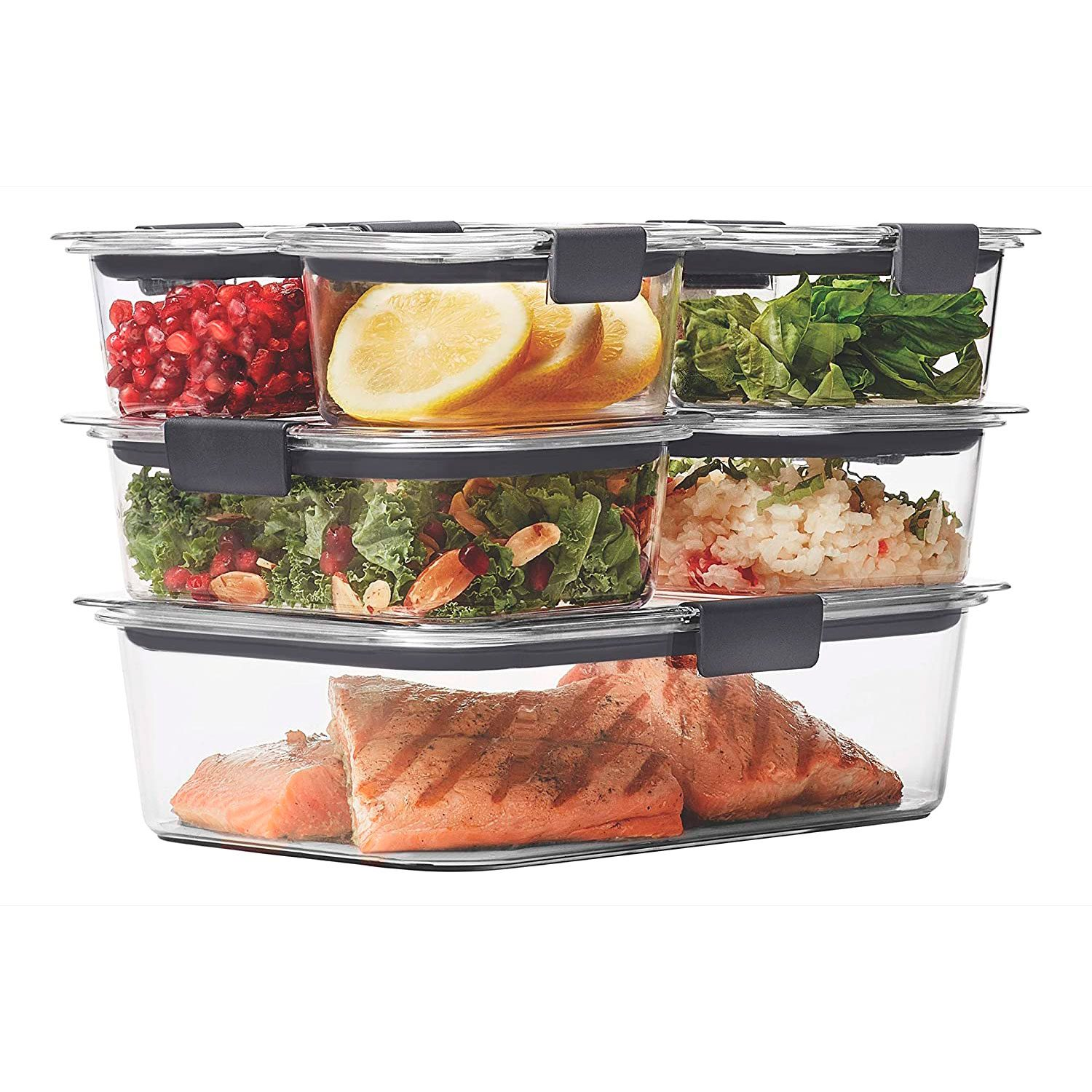 Rubbermaid Brilliance Leak Proof Food Storage Containers With Airtight Lids
