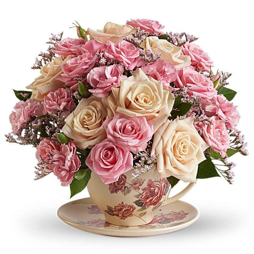 Victorian Teacup Bouquet