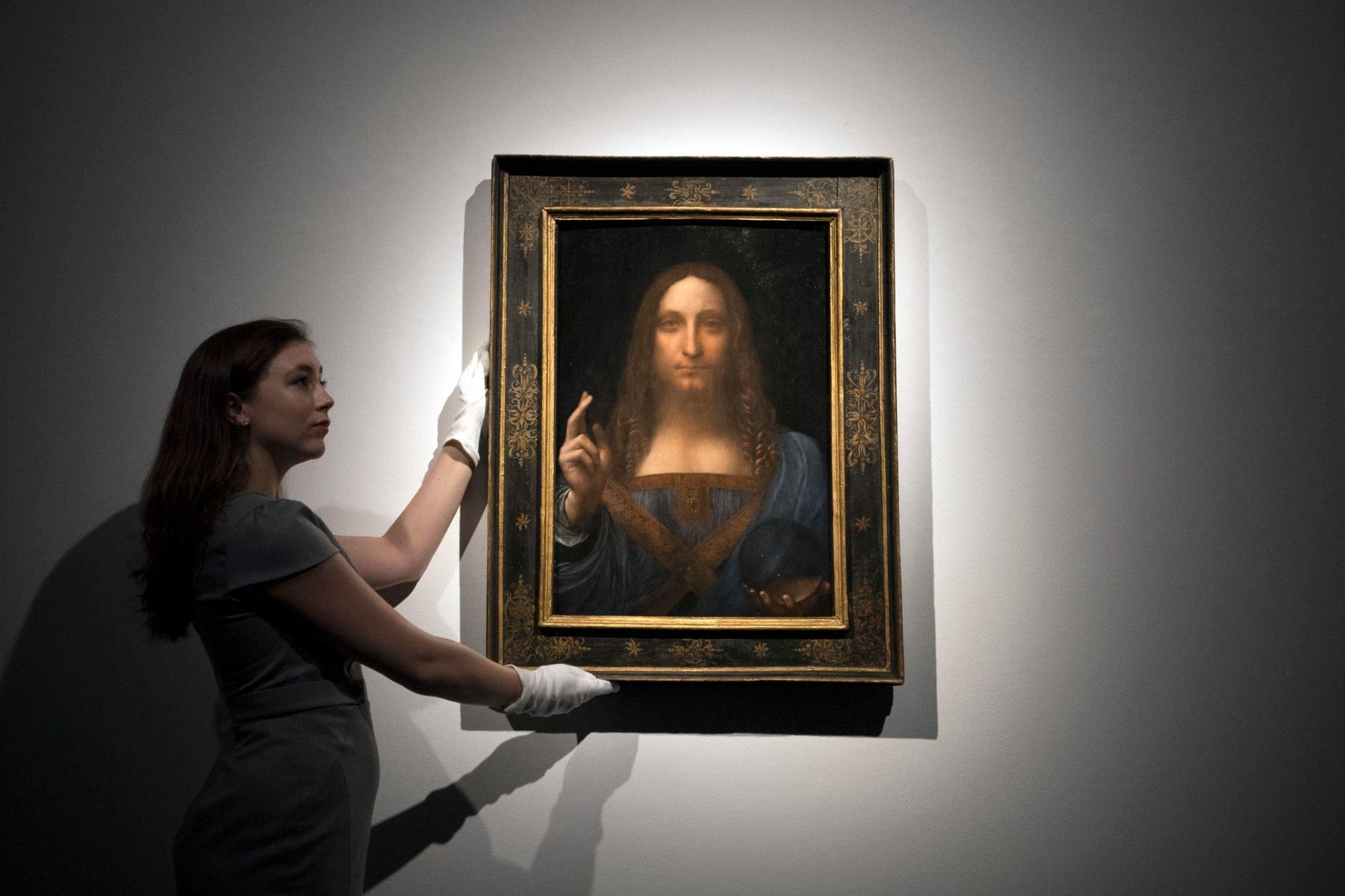 Christie's Previews Leonardo Da Vinci's Salvator Mundi Prior To Auction