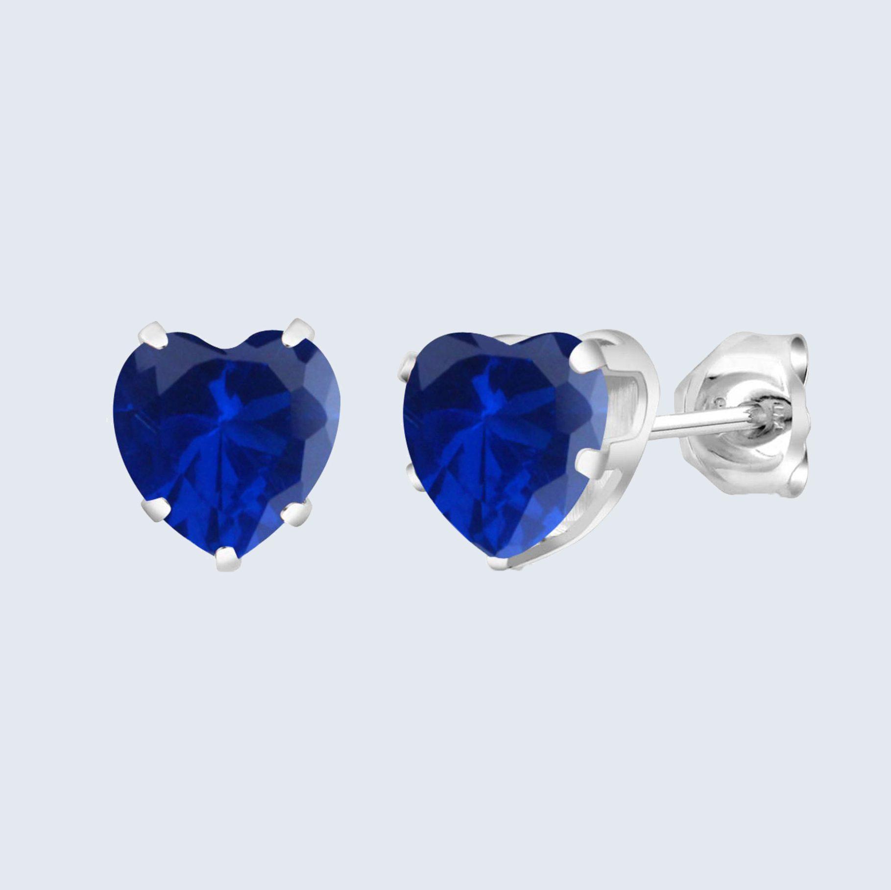 Birthstone Heart Earrings