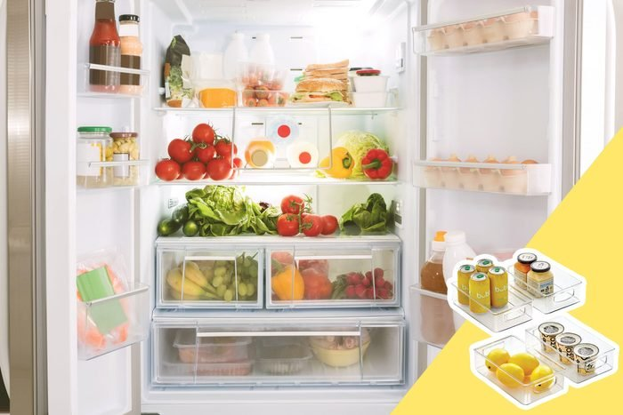 fridge with fridge organizers