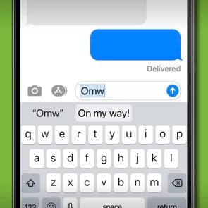 iPhone keyboard typing