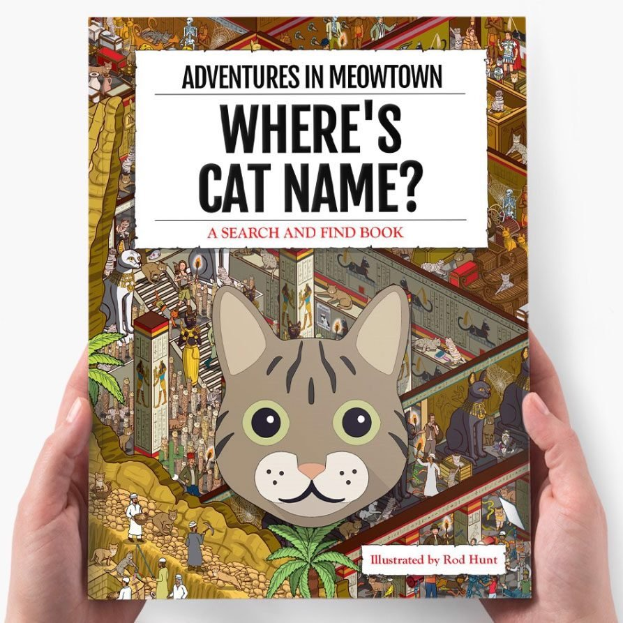 Personalized Book Wheres Your Cat Adventures In Meowtown
