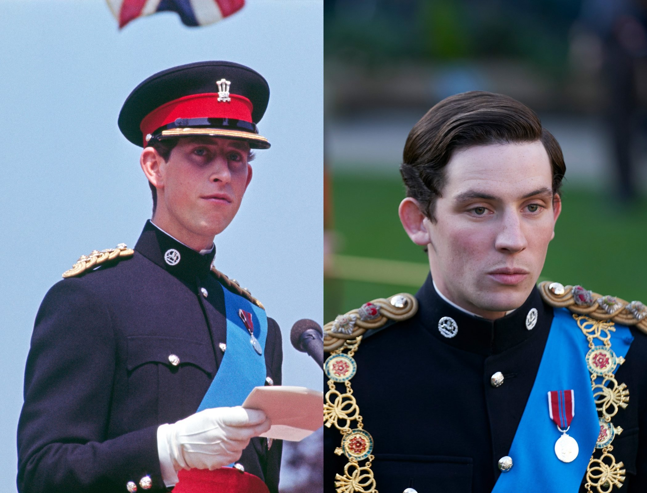 Prince Charles as a young man, as played by Josh O'Connor