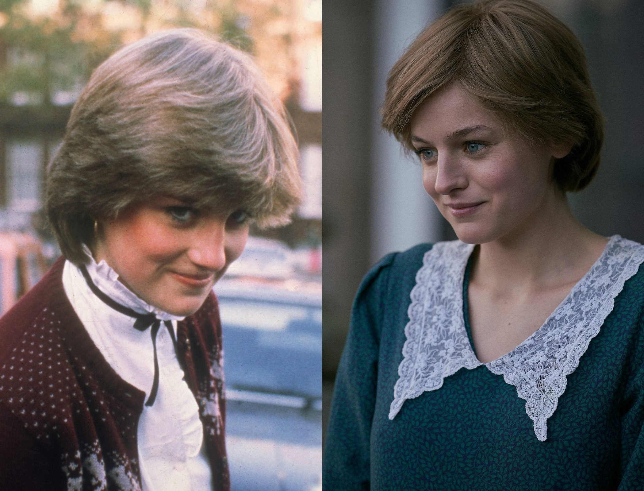 Princess Diana, as played by Emma Corrin