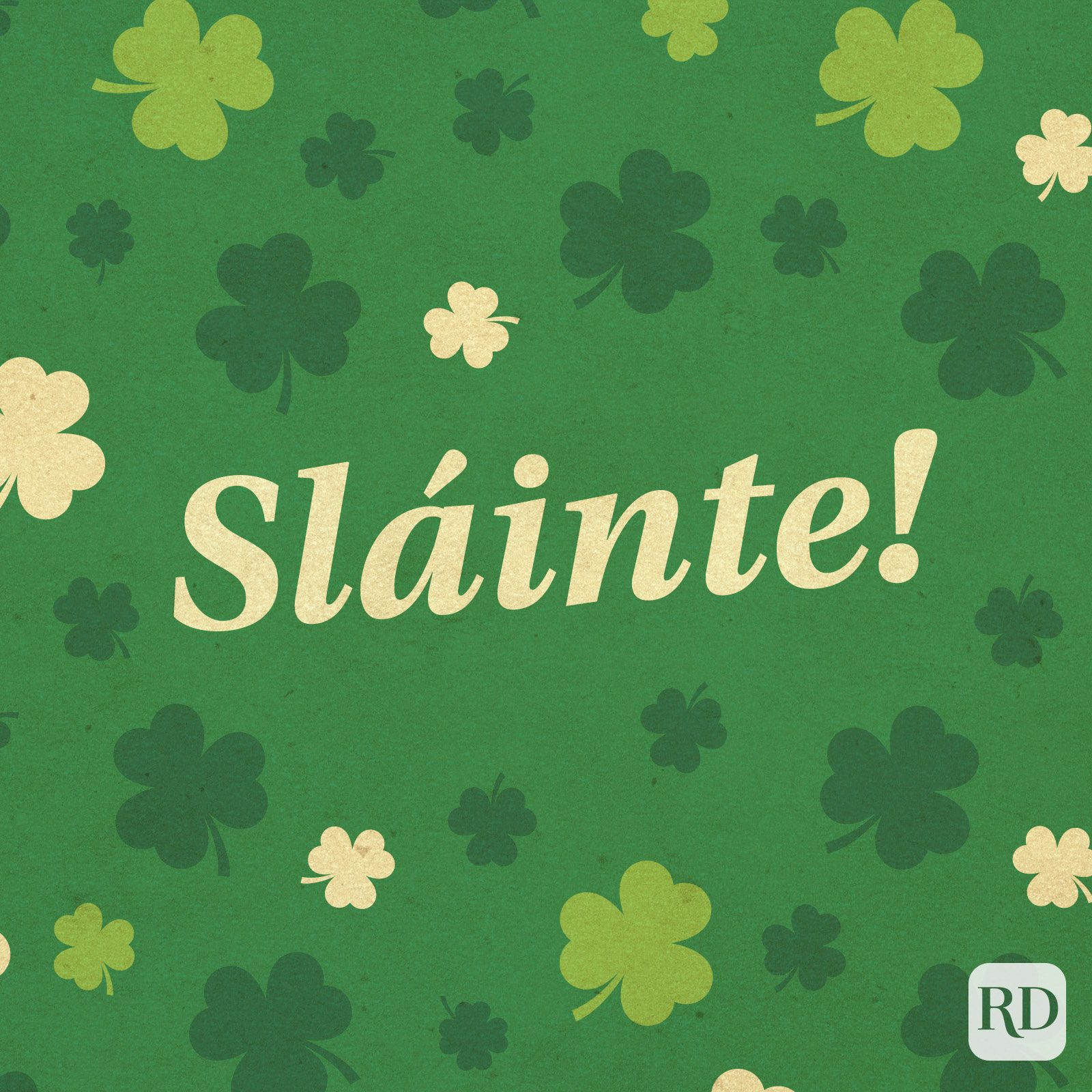 """sláinte!"" Gaelic for ""cheers"""
