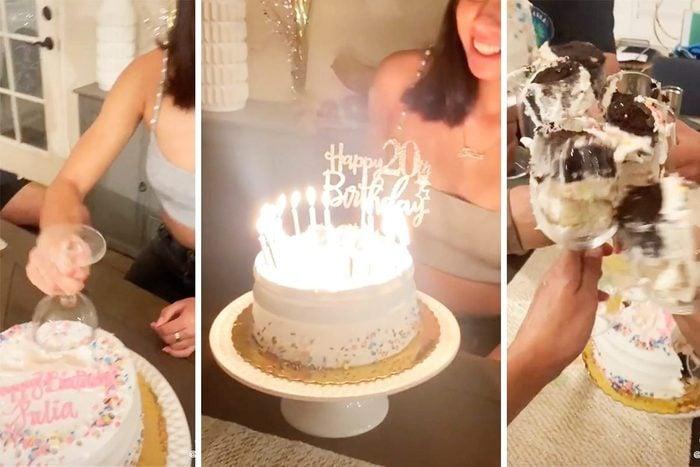TikTok cake cutting hack