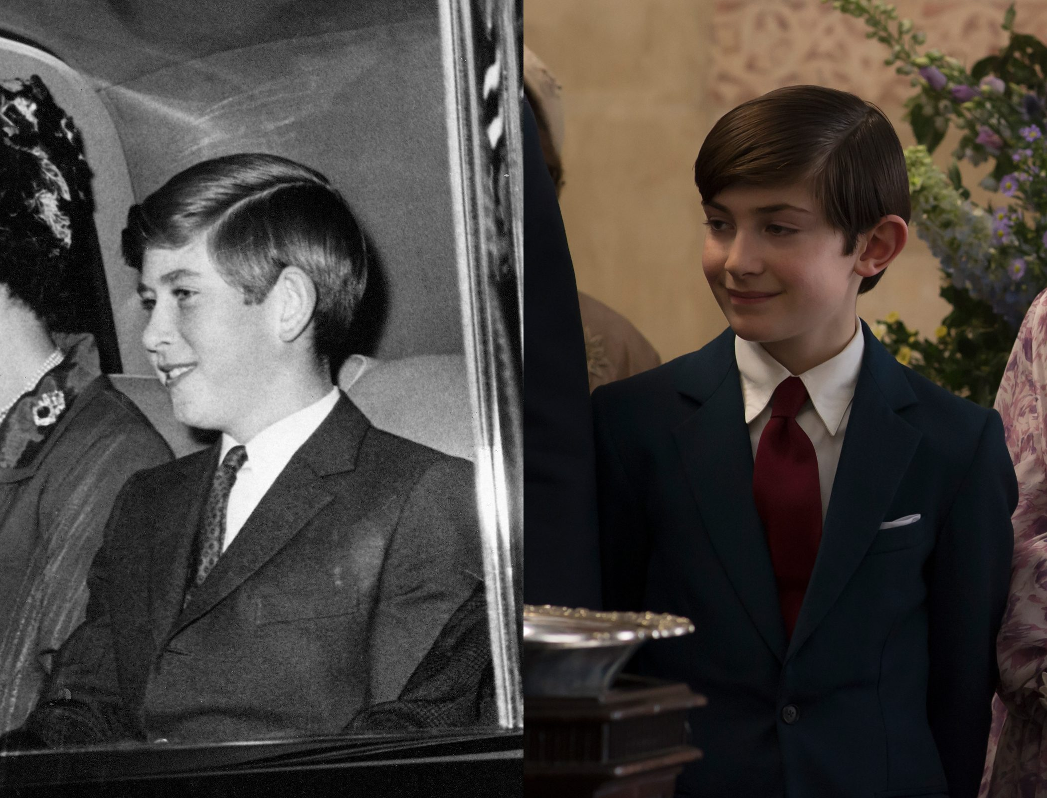 Prince Charles as a teenager, as played by Julian Baring