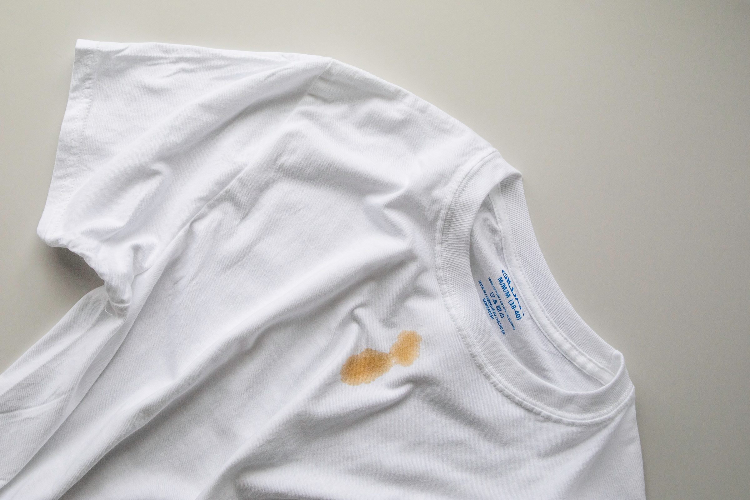 remove coffee stains from clothing