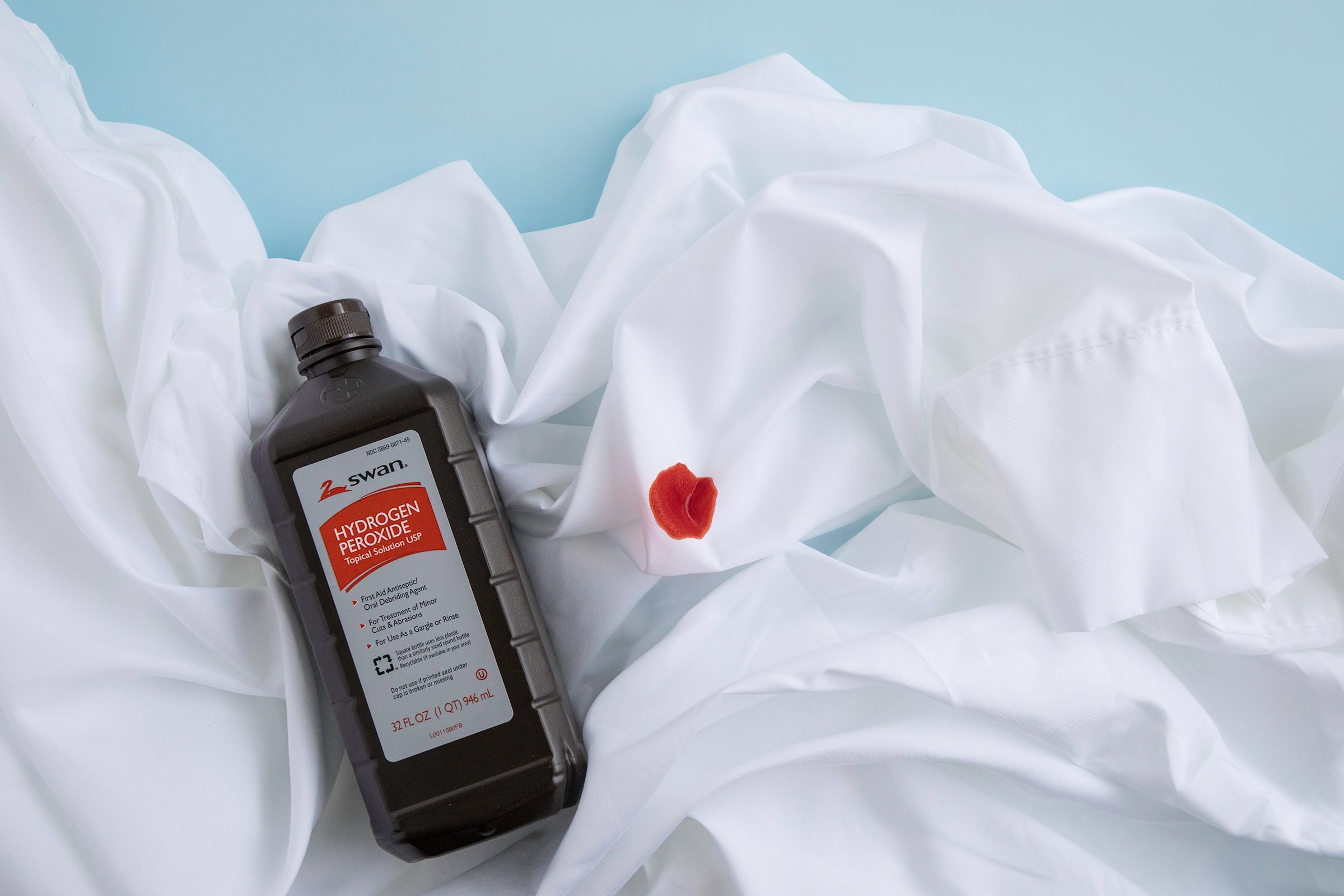 hydrogen peroxide gets blood out of sheets