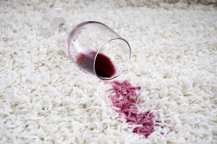 how to get wine out of carpet