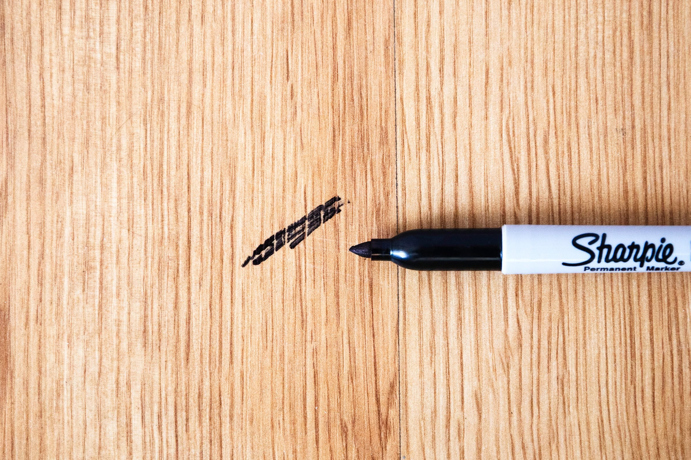 how to get permanent marker out of wood
