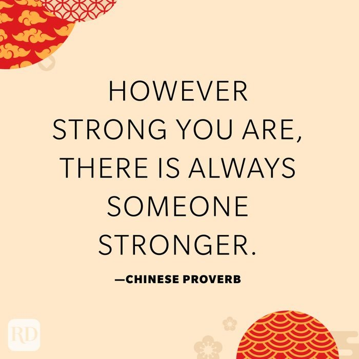 However strong you are, there is always someone stronger.
