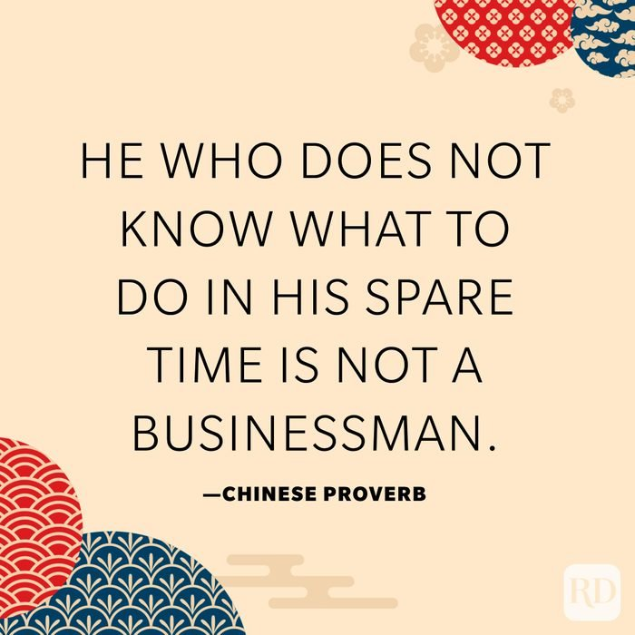 He who does not know what to do in his spare time is not a businessman.