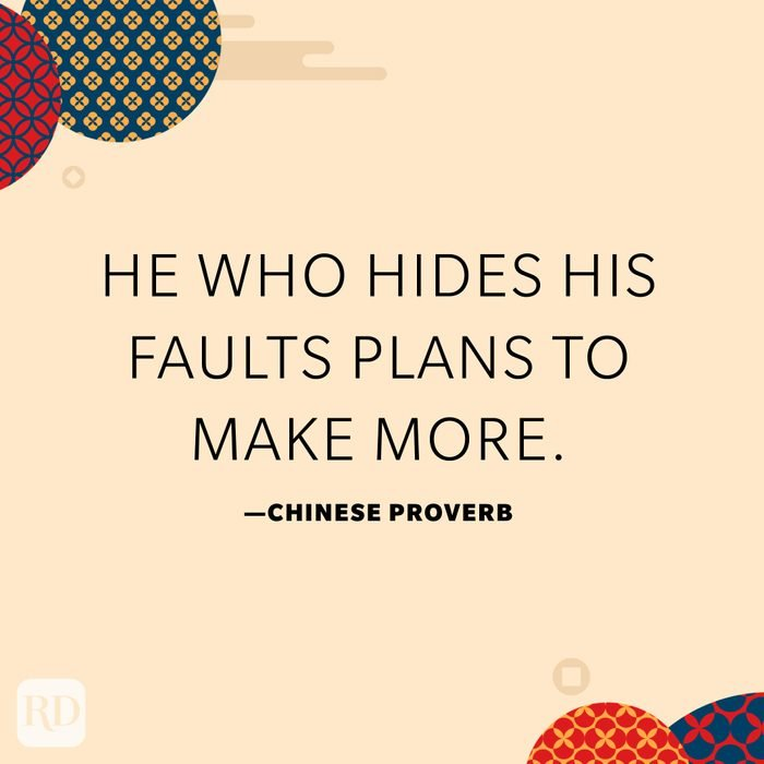 He who hides his faults plans to make more.