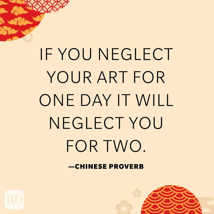 If you neglect your art for one day it will neglect you for two.