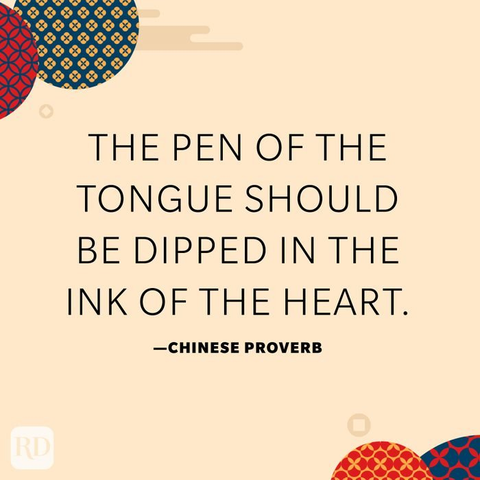 The pen of the tongue should be dipped in the ink of the heart.
