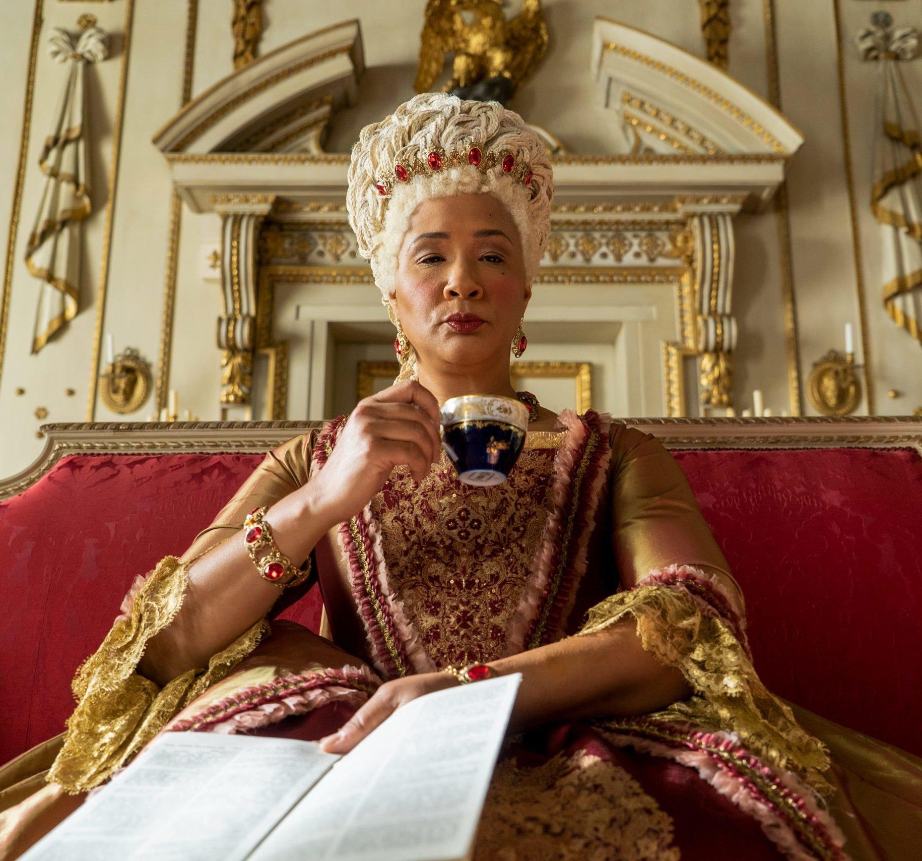 Queen Charlotte in Bridgerton on Netflix