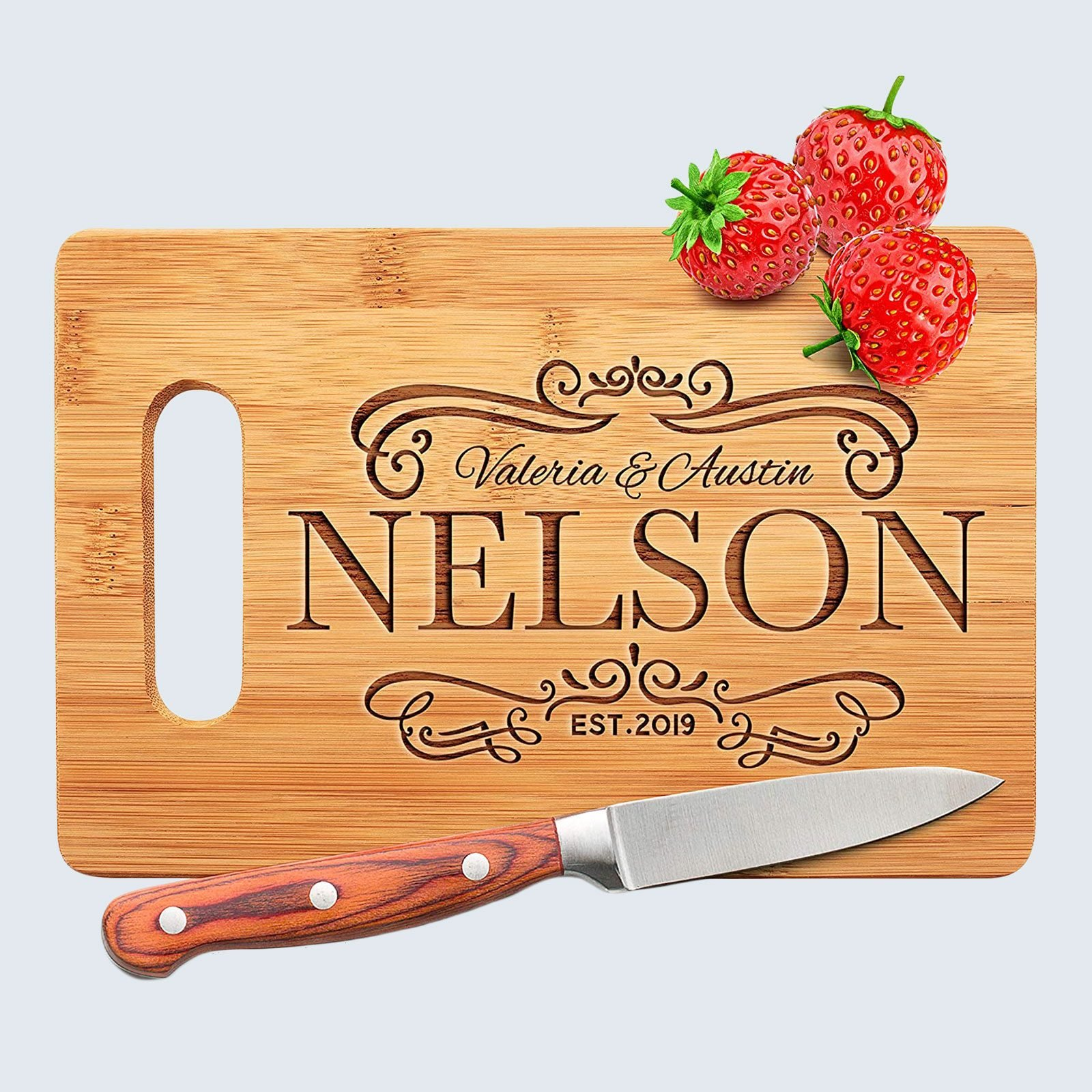 For the sentimental foodie: Amazing Items Personalized Cutting Board