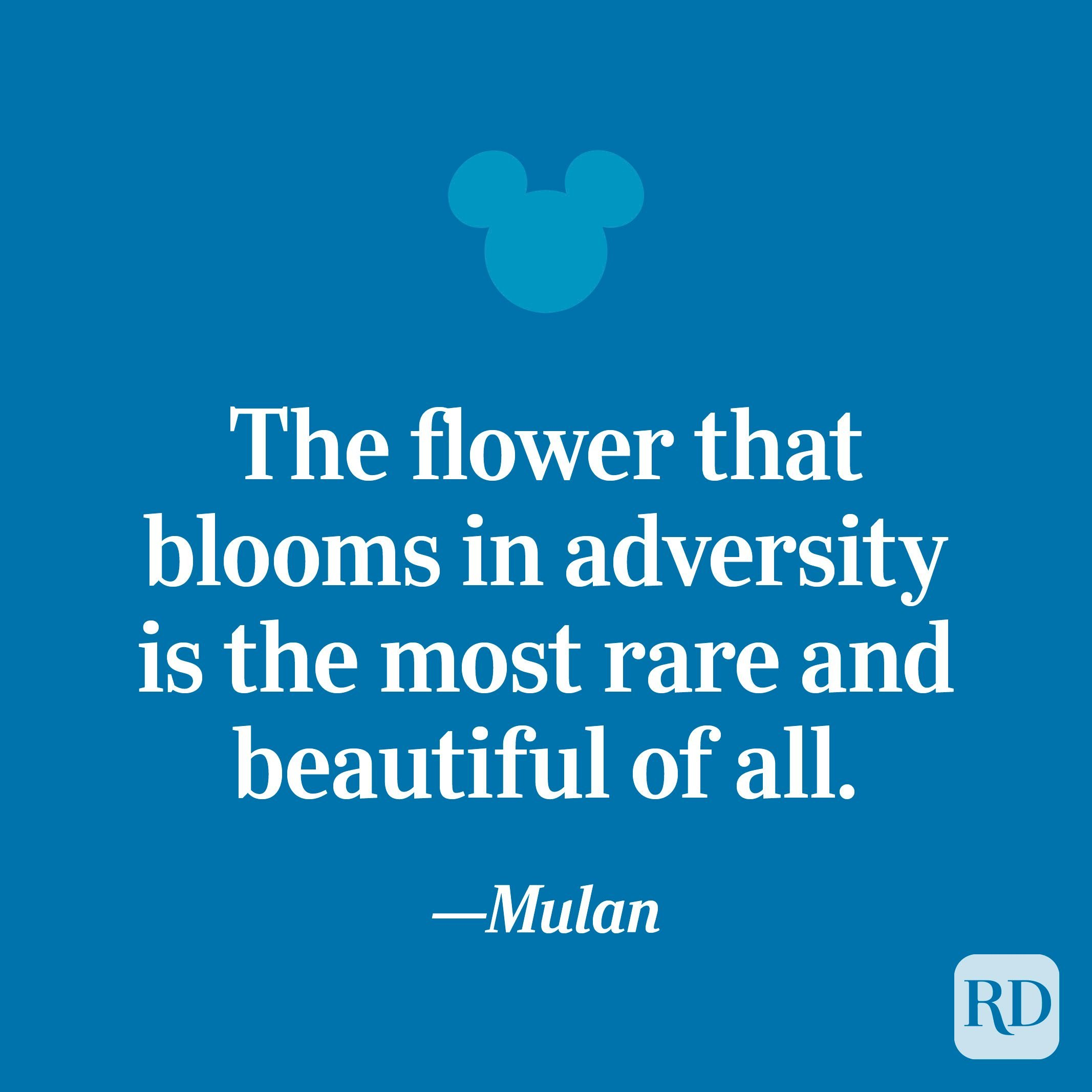 """""""The flower that blooms in adversity is the most rare and beautiful of all."""""""