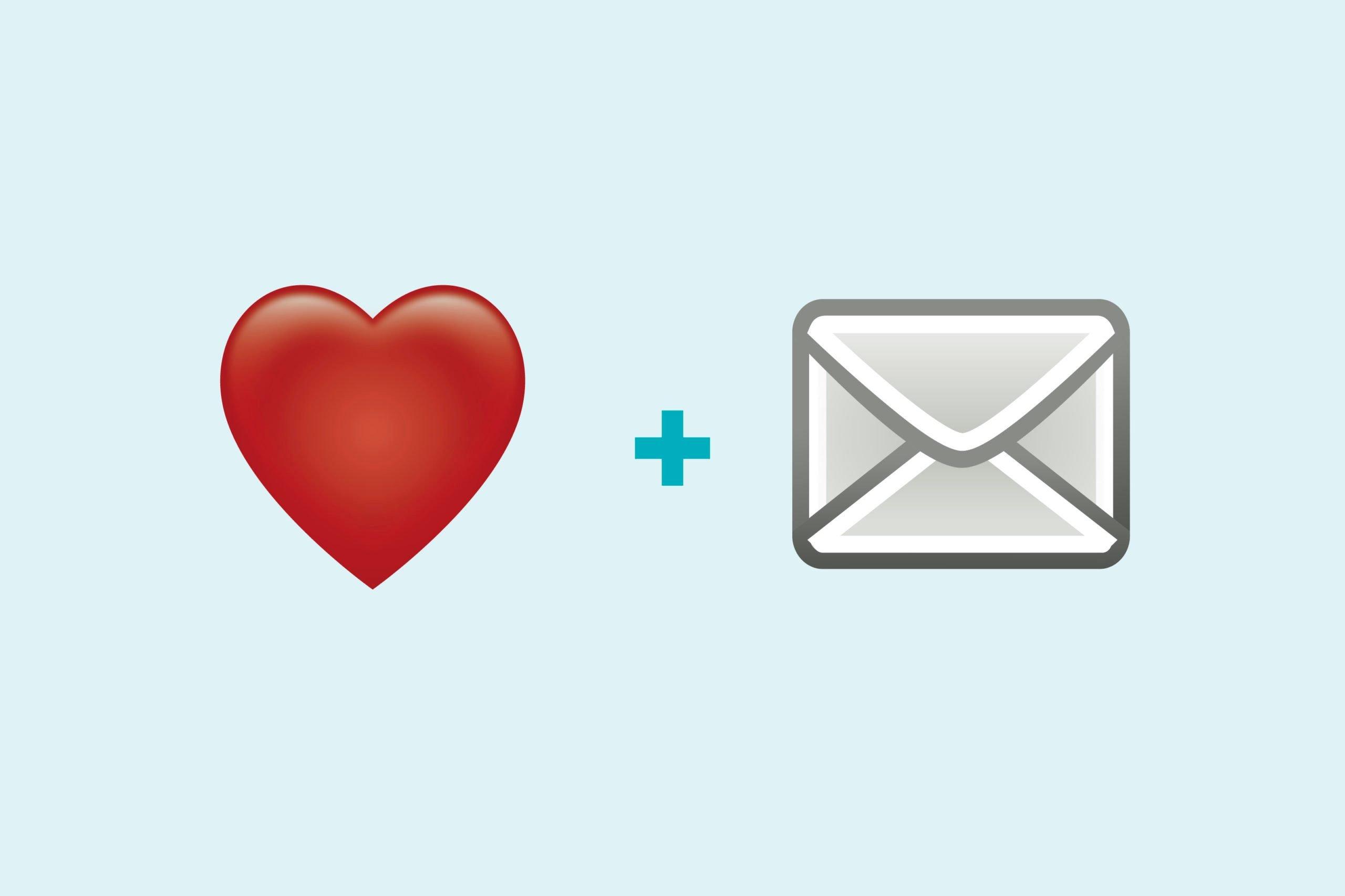 Heart emoji + letter emoji