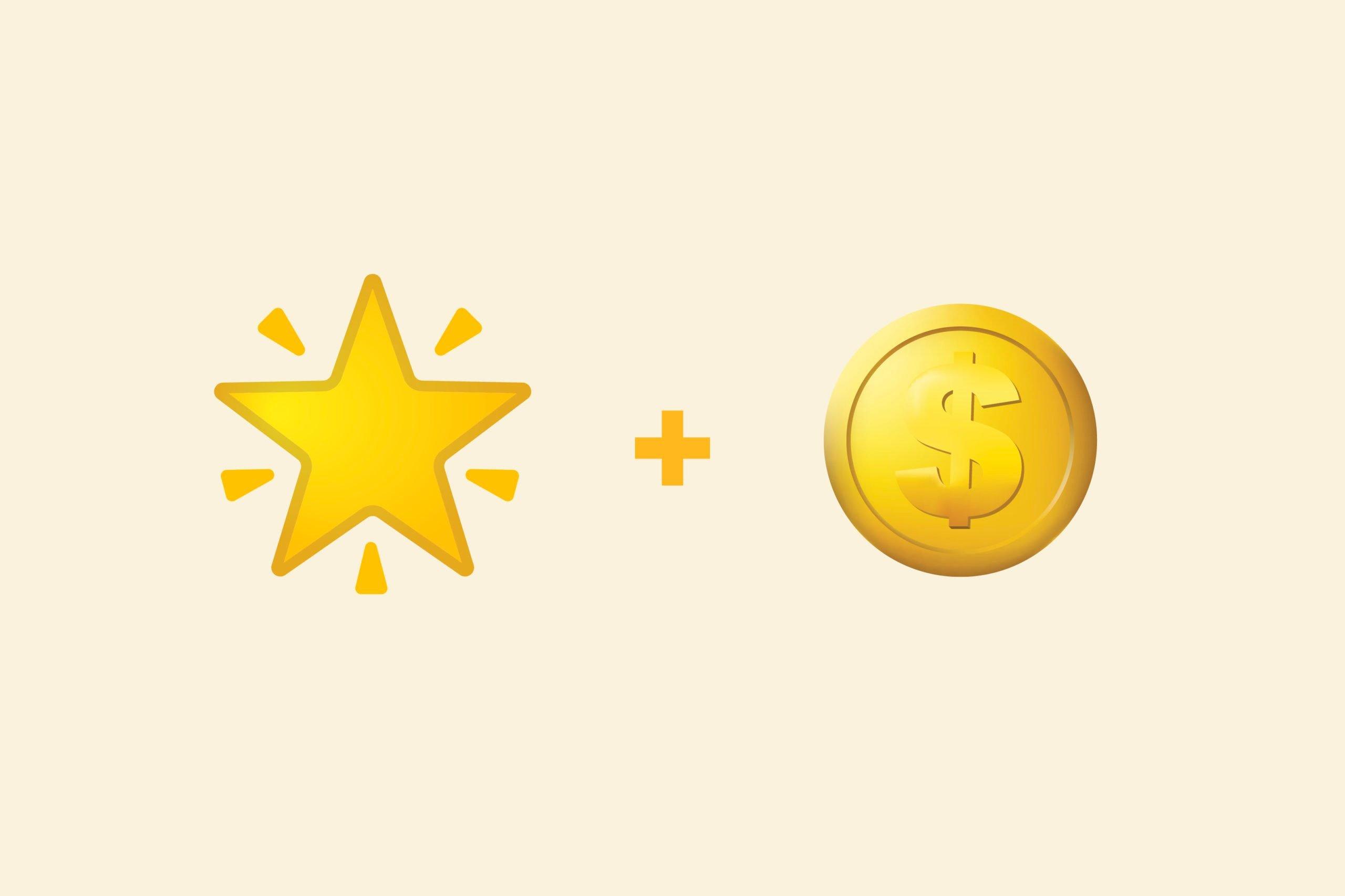 Star emoji + money emoji