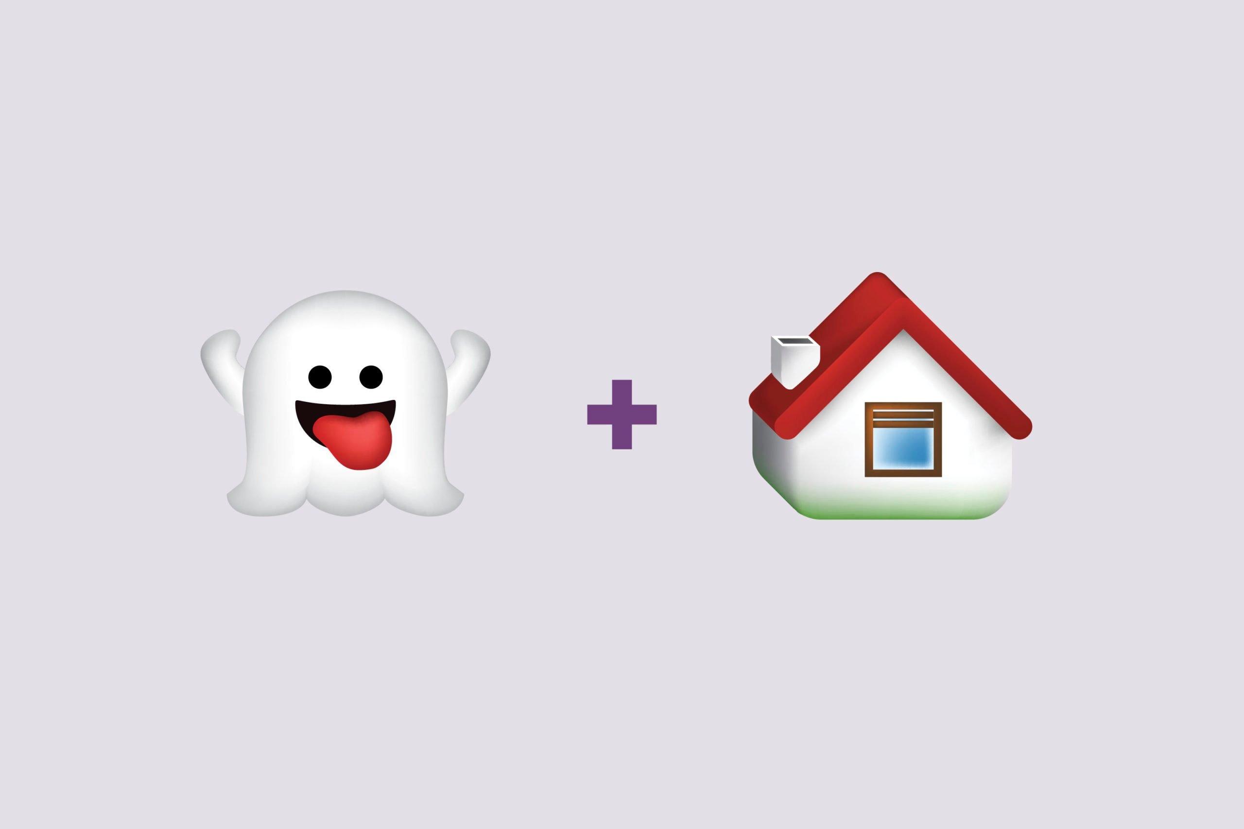 Ghost emoji + house emoji